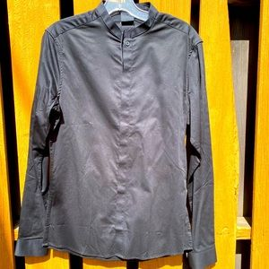 "NWT ""ASOS"" Black Dress Shirt with Granddad Color"